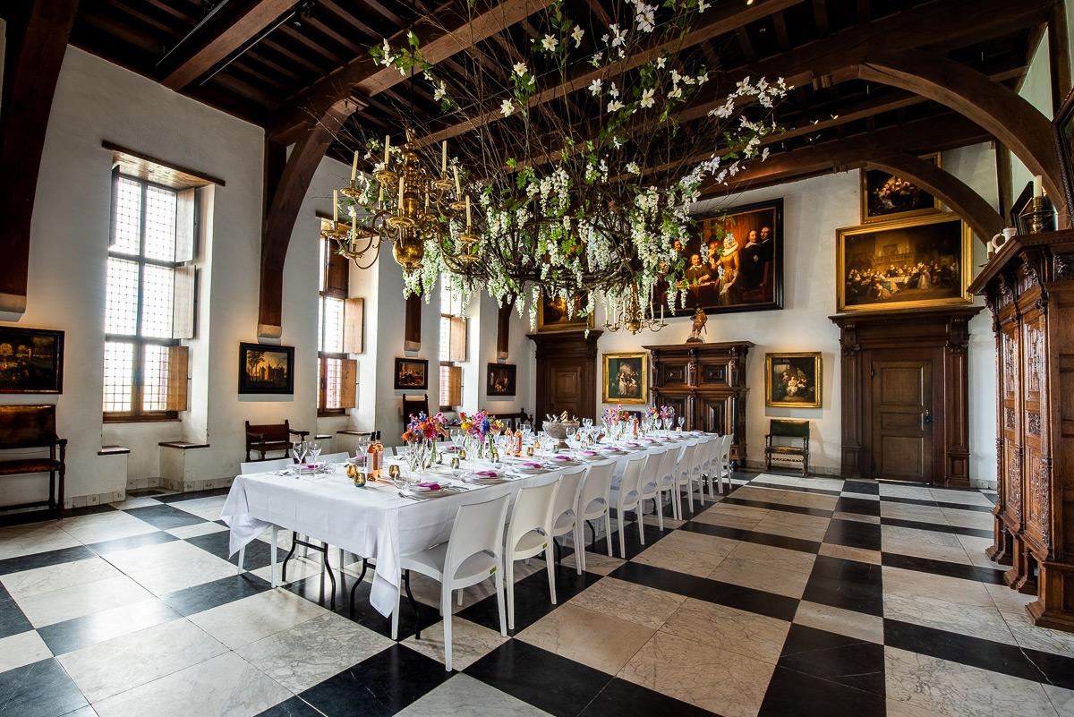 ridderzaal muiderslot dineren tafel