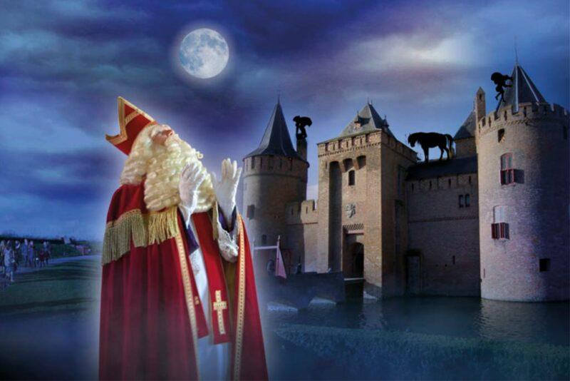 Kasteel van Sinterklaas bij het Muiderslot