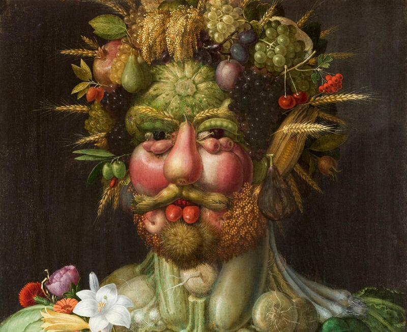 masker met groente in de voorjaarsvakantie bij het muiderslot