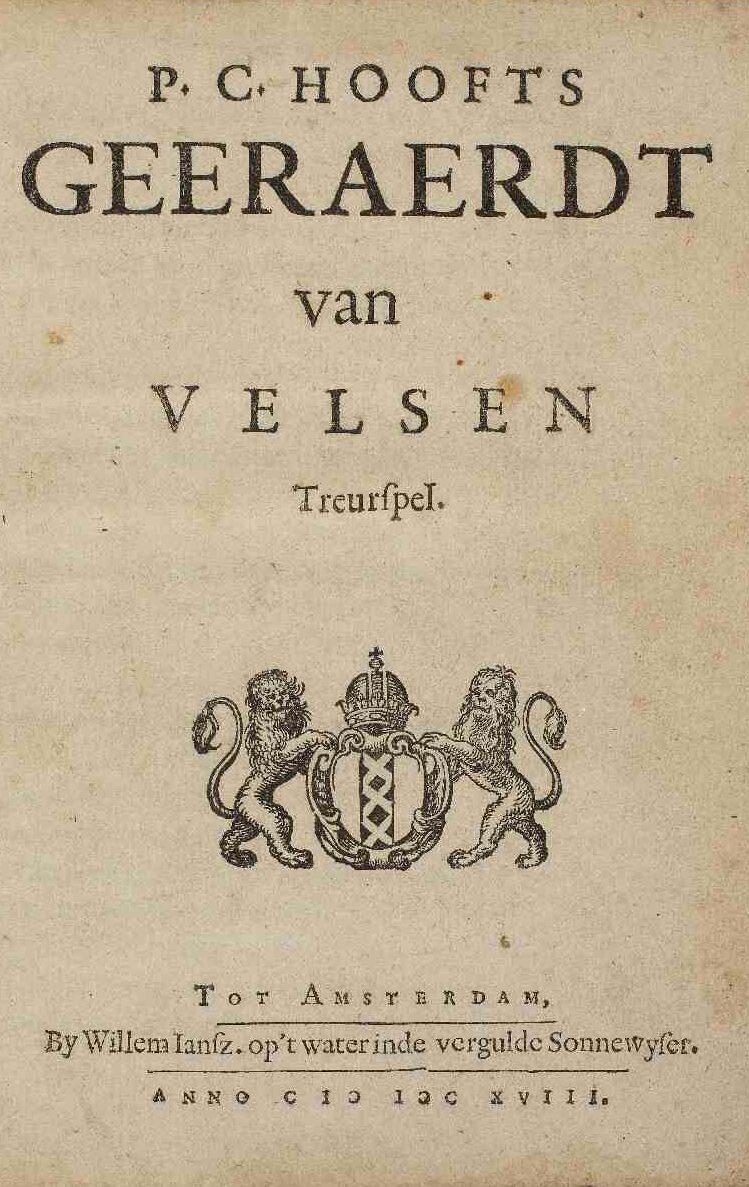 Geeraerdt van velsen door P.C. Hooft