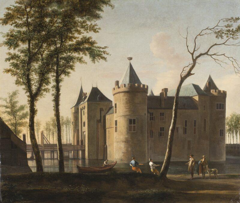 Het Muiderslot door Gerrit Berckheyde