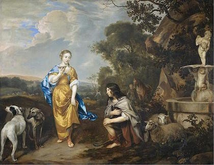 herders op een schilderij bij het Muiderslot
