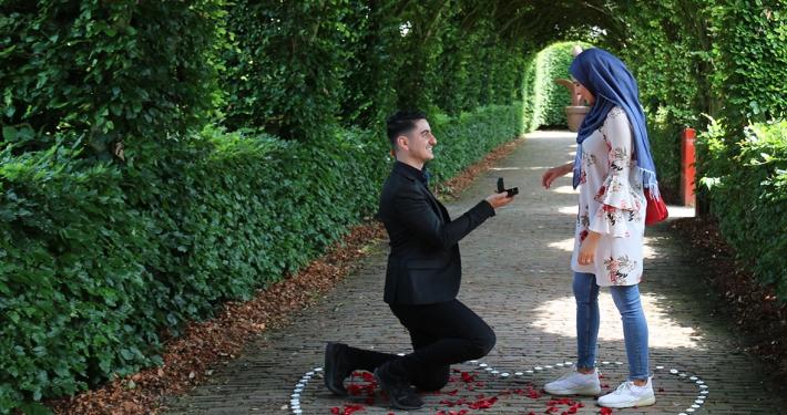 aanzoek muiderslot in de berceau trouwen
