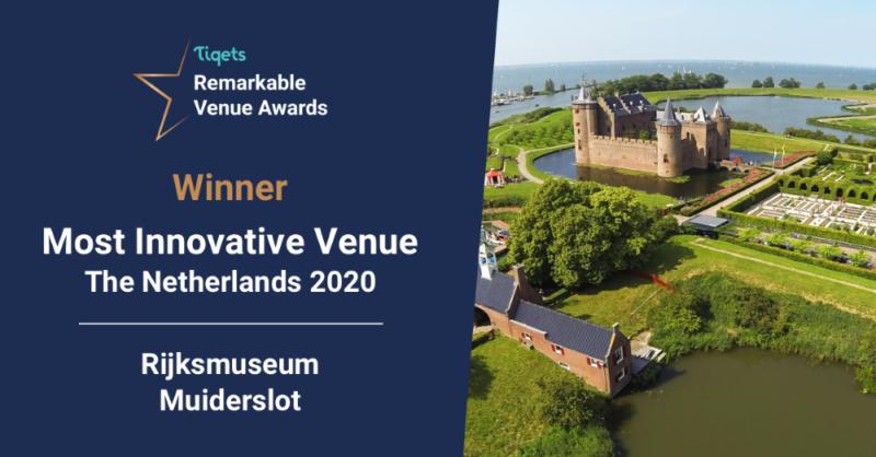 Tiqets award Muiderslot innovative venue