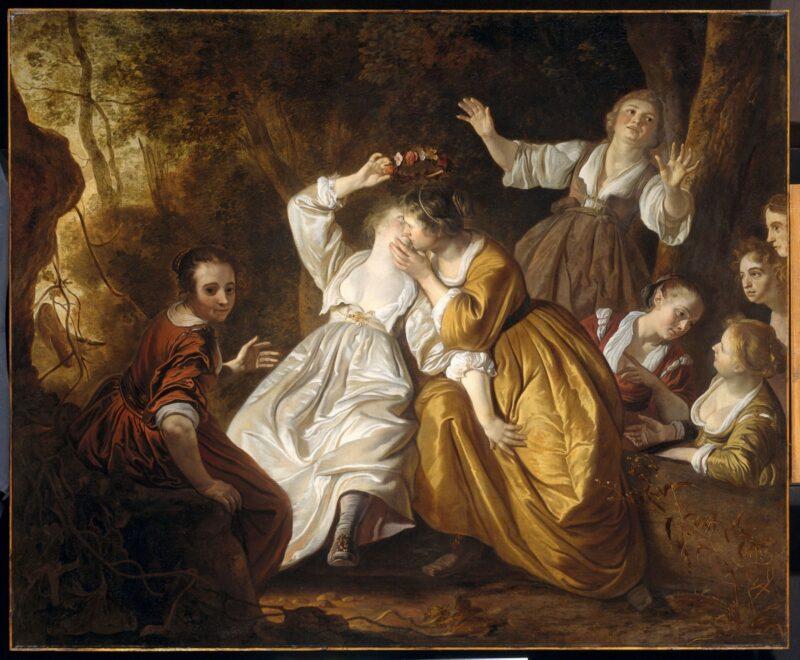Een schilderij van Mirtillo in het Muiderslot