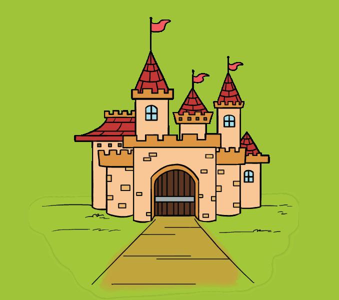 een kasteel als tekening